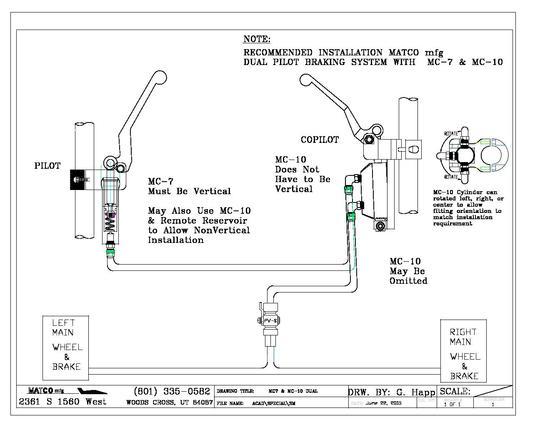 Hydraulic Schematic for MC-7 & MC-10 Dual