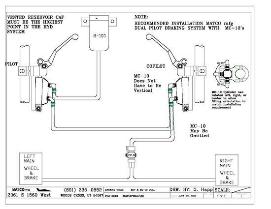 Hydraulic Schematic forDual MC-10 w Remote